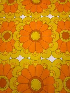 Yes this one takes me back!   Pomme de Jour Blog: Original 1970s Fabrics on Ebay.