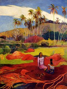Paul Gauguin Tahitian Women under the Palms painting is available for sale; this Paul Gauguin Tahitian Women under the Palms art Painting is at a discount of off. Paul Cezanne, Henri Matisse, Pablo Picasso, Gauguin Tahiti, Impressionist Artists, Op Art, Painting & Drawing, Painting Canvas, Modern Art