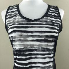 Tek Gear Women's Shirt Tank Top Black White | eBay