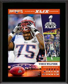 "Vince Wilfork New England Patriots Super Bowl XLIX Champions 10.5"" x 13"" Sublimated Plaque"