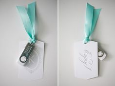 #Personalized #flash drives as wedding favors