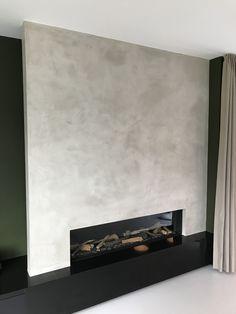 Stuc deco geplaatst op schouwmantel door tint!. www.tint-decoratie.be