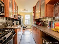 Find the light at the end of the kitchen when you stay in this #furnished #roommate #share apartment in #NYC!