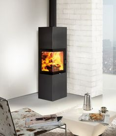 Slim 2.0 di Austroflamm Freestanding Fireplace, Small Fireplace, Stove Fireplace, Scandinavian Cabin, Modern Stoves, Pellet Stove, Wood Burner, Next At Home, Living Room Inspiration