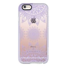 FESTIVAL FEATHER MANDALA - LILAC - iPhone 6s Case,iPhone 6 Case,iPhone... (57 NZD) ❤ liked on Polyvore featuring accessories, tech accessories, phones, phone cases, cases, tech, electronics, iphone case, apple iphone case and clear iphone case