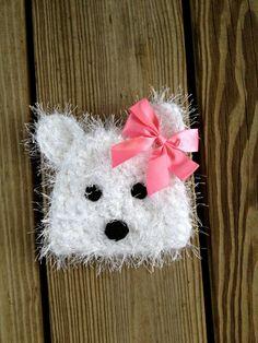 Westie Puppy Hat Crochet PATTERN PDF Newborn to Adult by BizeeB, $3.50
