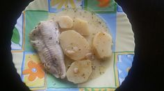 Psari bianco - cod with white sauce
