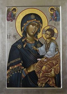 Madonna and Child. Religious Images, Religious Icons, Religious Art, Byzantine Icons, Byzantine Art, Blessed Mother Mary, Blessed Virgin Mary, Greek Icons, Mama Mary