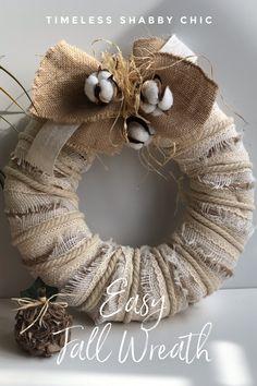 Wreath Crafts, Diy Wreath, Wreath Making, Wreath Ideas, Hessian Wreaths, Christmas Wreaths For Windows, Fall Wreaths, Door Wreaths, Easy Crafts To Sell