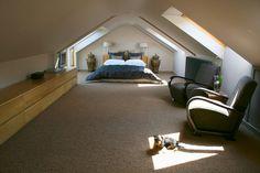 Wir Haben Ihnen Vor Kurzem Viele Coole Badezimmer Auf Dem Dachboden Gezeigt  Und Jetzt Kommen Die Extravagante Schlafzimmer Im Dachgeschoss Designs.