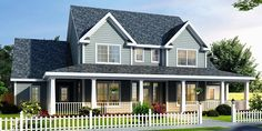 Country Farmhouse House Plan 68178