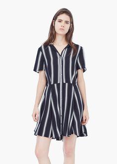 Cut-out back dress - Dresses for Women   MANGO