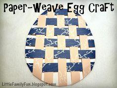 Paper-weave egg craft