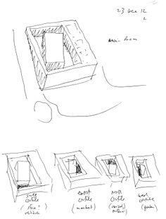 "ANIMA: the schematic design. The four ""cortili"".  www.animailprogetto.com www.facebook.com/ANIMATHEPROJECT"