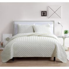 VCNY Nina Embossed 3-piece Quilt Set | Overstock.com Shopping - The Best Deals on Quilts