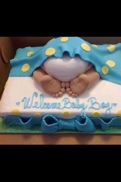 Baby boy shower what a cute cake!!!