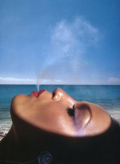 Jerry Hall, photo by Hiro on St. Martin, West Indies, February 1975