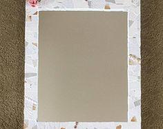 Mosaic framed mirror, white mosaic mirror
