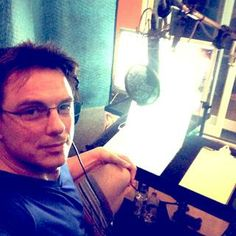 In the Studio in Palm Springs connected with Glasgow down the line doing my voice over for My new show. Jb (4/15/14)