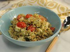 Pesto Farro with Chicken, Smoked Mozzarella and Tomatoes ~ Recipe courtesy of Katie Lee (The Kitchen)
