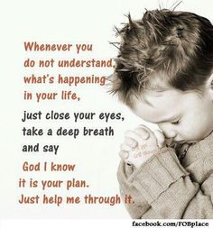 I know God has a plan.❤