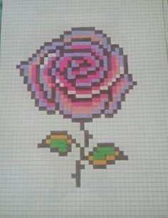 Pixel art rose de la belle et la bête Pixel pink art of beauty and the beast Graph Paper Drawings, Graph Paper Art, Art Drawings, Pixel Art Templates, Perler Bead Templates, Pixel Art Rose, Beauty And The Beast Art, Drawings Pinterest, Modele Pixel Art