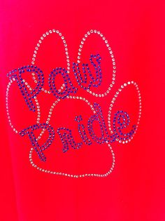 Bulldog Paw Pride Bling Shirt Great for the Games!!