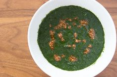 This popular Egyptian soup made with minced Jute leaves is nutritious and delicious over rice and chicken.