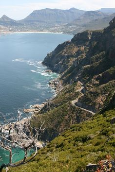 Above Chapmans Peak drive looking towards Hout Bay - Cape Town ~ South Africa Namibia, Le Cap, Cape Town South Africa, Most Beautiful Cities, Africa Travel, Places Around The World, Scenery, Places To Visit, Travel Planner