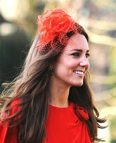 Dressed in the color of love, Kate donned this rose topper at the wedding of David Jardine-Paterson and Emilia D'Erlanger in Devon, England, on April 17, 2010.