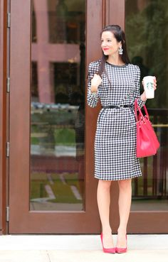 Devilishly Professional: SheInside Houndstooth Print Dress