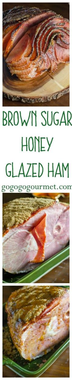Super simple, yet super delicious, this glaze is the best way to dress up a ham! Brown Sugar Honey Glazed Ham | Go Go Go Gourmet @gogogogourmet