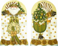 These are some of my most favs!s I love her double Santas!! Melissa Shirley Designs | Hand Painted Needlepoint | Golden Santa
