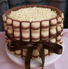Gâteau chocolat blanc et kinder bueno !