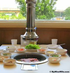 bbq exhaust at dinning table