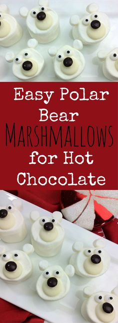 Easy Polar Bear Marshmallows for Hot Chocolate