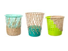 Kind of digging these baskets - where plastic meets natural weave