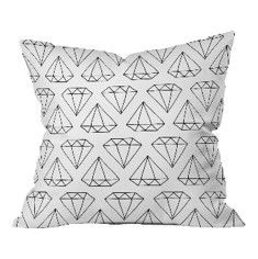 DENY Designs Diamond Throw Pillow-the perfect print for a glamorous girl from @wayfair