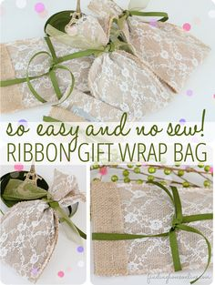 Gift Wrapping Ideas – No Sew DIY Gift Bag - Finding Home. We could use crochet also. Creative Gift Wrapping, Wrapping Ideas, Creative Gifts, Easy Gifts, Homemade Gifts, Diy Bags No Sew, Diy Ribbon, Gifts For Teens, Crafty Craft
