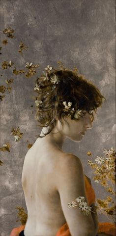 Brad Kunkle The Eighth Veil, Oil and silver leaf on wood