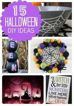 If you're planning s spooktacular party this year, check out these 15 Great Halloween DIY Decor Ideas that anyone can do and everyone will love! Halloween Theme Preschool, Halloween Home Decor, Halloween Snacks, Diy Halloween Decorations, Halloween House, Easy Halloween, Halloween Themes, Halloween Crafts, Halloween Party