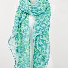 Burnout print tribal triangle scarf