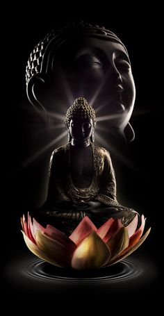 """""""One of the beautiful things about Buddhism is that it does not worship Buddha as a god or deity, bu Gautama Buddha, Amitabha Buddha, Buddha Buddhism, Buddha Kunst, Buddha Art, Buddha Lotus, Buddha Tattoos, Hindu Tattoos, Symbol Tattoos"""