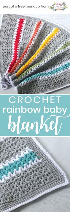 The Stitching Mommy: Gender Neutral Crochet Baby Blanket Roundup