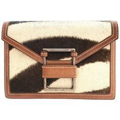273a368452b8 Vintage Ralph Lauren Pony Hair Leather Clutch