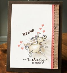 Hand Made Greeting Cards, Making Greeting Cards, Greeting Cards Handmade, Card Making Inspiration, Making Ideas, Valentine Cards To Make, Stamping Up Cards, Animal Cards, Baby Kind