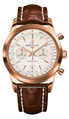 Breitling Transocean Chronograph 38 Automatic in red gold