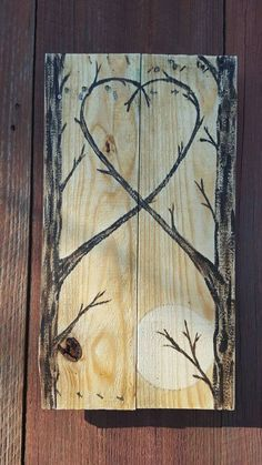 Handmade Love Tree Painting Pallet wood art by SimplyPallets
