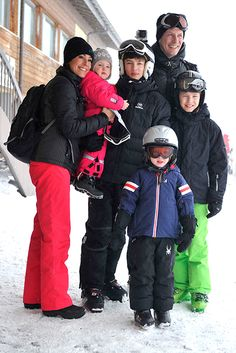 Prince Joachim and Princess Marie of Denmark take their children on a skiing holiday - hellomagazine.com
