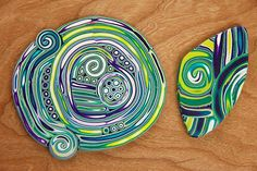 Kristie Foss Creations: Extruded mokume gane, a different more controlled way to create a design.